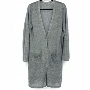 Eileen Fisher Loose Knit Long Cardigan Sweater